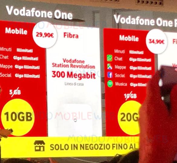 Photo of Dal 24 Giugno 2018 nuova offerta convergente Vodafone One Pro a partire da 34,90 euro al mese