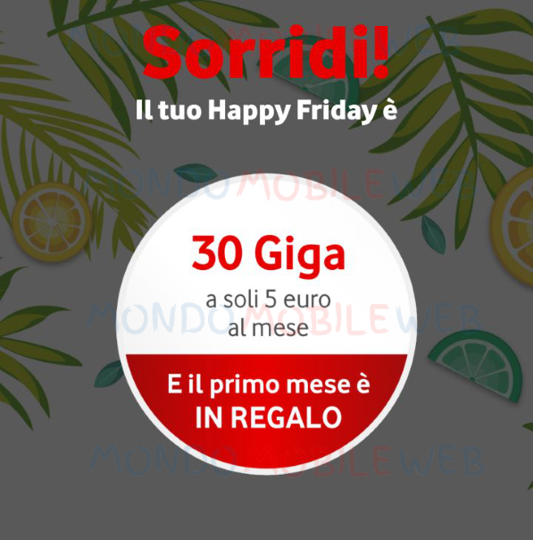 Happy 30 Giga Si Offerta