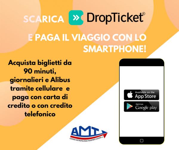 Photo of Dal 23 Luglio 2018 i biglietti dei bus AMT Catania si potranno acquistare anche con DropTicket