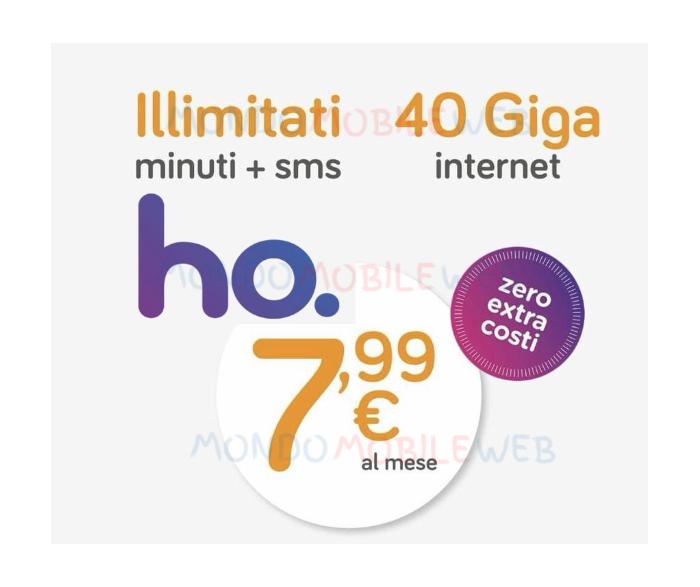 Photo of ho mobile proroga l'offerta 40 Giga a 7,99 euro al mese fino al 26 Settembre 2018