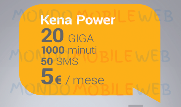 Photo of Kena Power DS: 1000 minuti, 50 SMS e 20GB in 3G a 5 euro solo in convergenza con Kena Casa