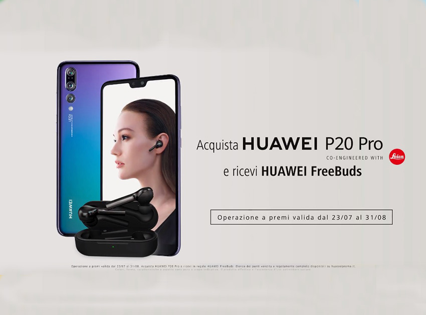 Photo of Huawei regala gli auricolari Freebuds acquistando lo smartphone P20 Pro