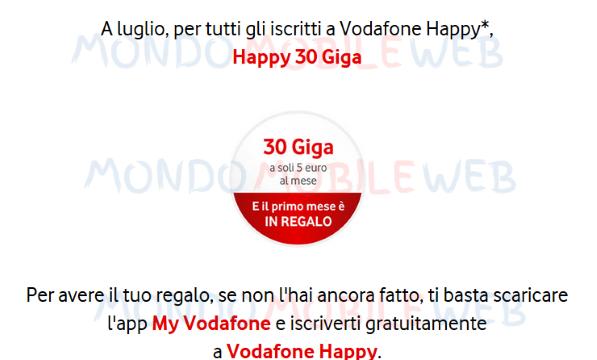 Vodafone Happy 30 Giga