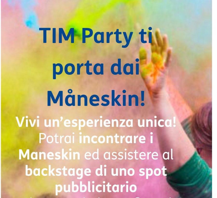 Photo of Tim Party: concorso che permette di incontrare iMåneskined assistere albackstagediun loro spot pubblicitario