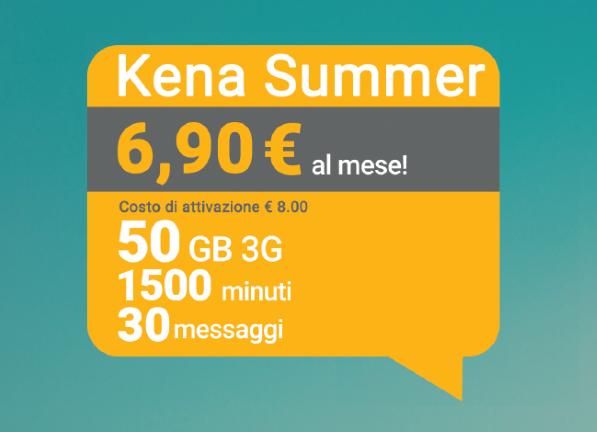 Photo of Kena Mobile: Kena Summer 50 Giga a 6,90 euro al mese attivabile fino al 30 Settembre 2018