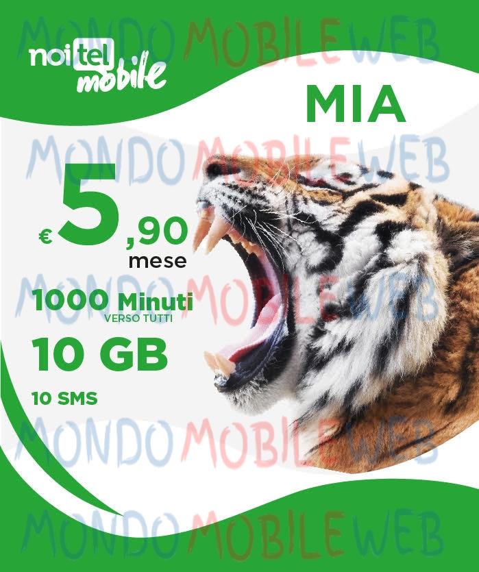Photo of Noitel Mobile lancerà il 31 Agosto 2018 l'offerta MIA Limited Edition con 1000 minuti, 10 GB e 10 SMS a 5,90 euro