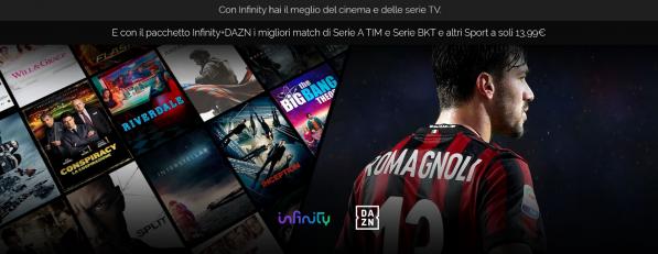 Photo of Arriva il pacchetto Infinity + DAZN con cinema, serie TV e sport in un'unica soluzione a 13,99 euro al mese