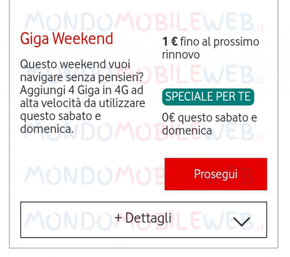 Photo of Vodafone Giga Weekend ad 1 euro una tantum ad alcuni già clienti tramite app My Vodafone