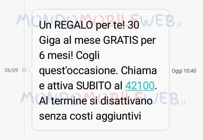 Vodafone regala 30 Giga