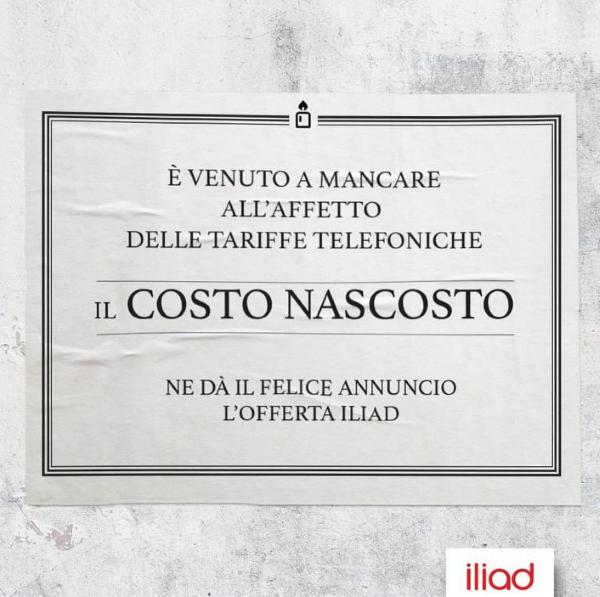 Photo of Iliad nei Social saluta i costi nascosti con un manifesto funebre satirico