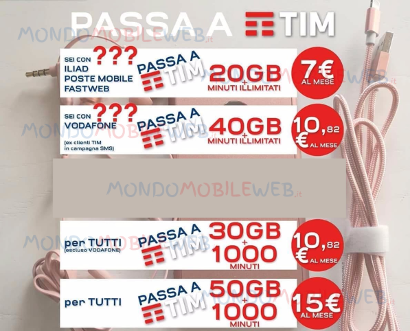 Photo of Tim: continuano le offerte low cost 7 Extra Go New 20GB, Special Top New 40GB, Ten Go New 30GB e 15 Go New 50GB