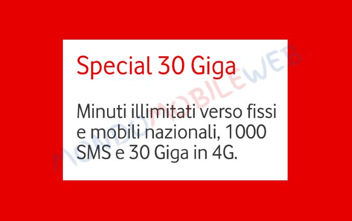 Photo of Vodafone Special 30GB a 6 euro al mese ad alcuni già clienti