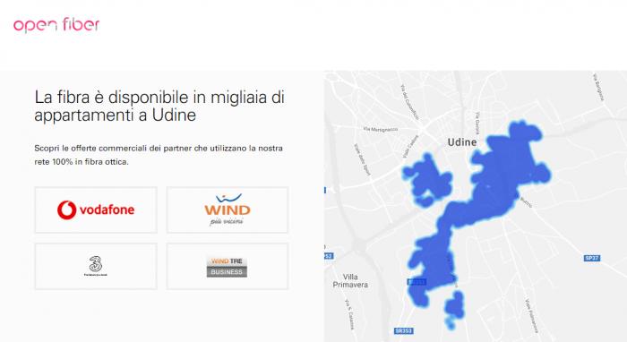 Udine Vodafone Open Fiber