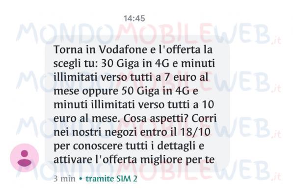 Vodafone SMS winback