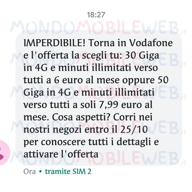 Photo of Vodafone Special Minuti: fino a 50 Giga a partire da 6 euro al mese con SMS winback