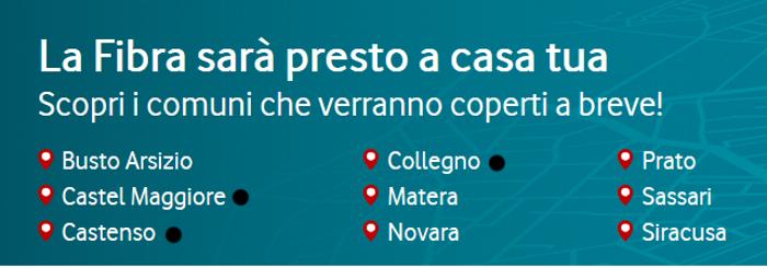 Prato Matera Fibra Vodafone
