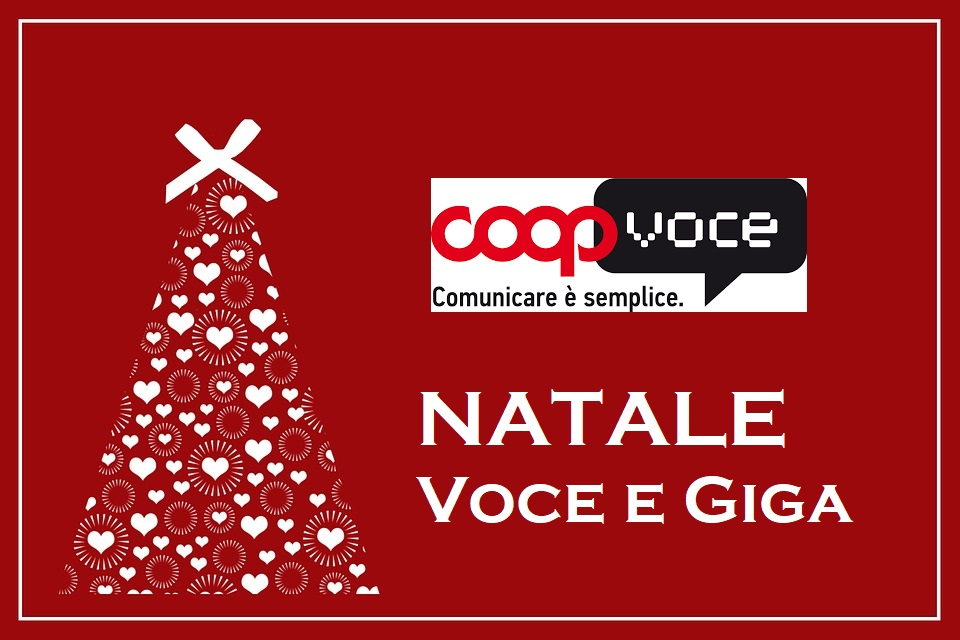 Photo of CoopVoce Natale Voce e Giga: 1000 minuti o 10 Giga in 4G a 2 euro