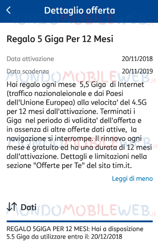 Tim regala 5,5 Giga di internet in 4.5G per 12 mesi