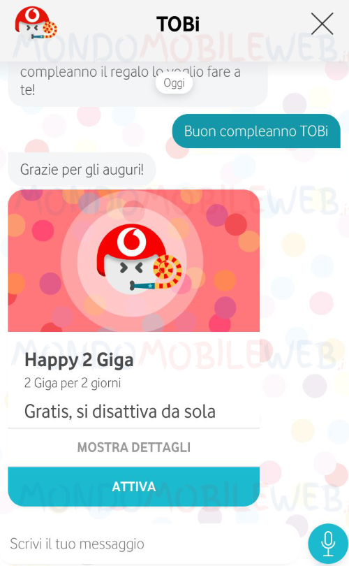 Buon Compleanno Tobi L Assistente Digitale Di Vodafone In Regalo
