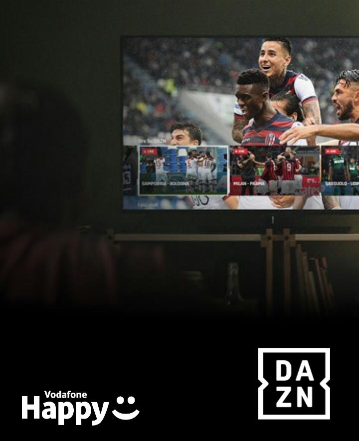 Vodafone Happy Moment: 2 Mesi Di DAZN In Regalo Ad Alcuni