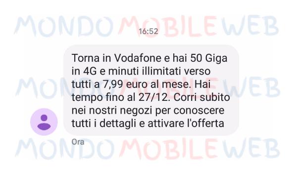 Photo of Vodafone contro ho. mobile: Special Minuti 50 Giga a 7,99 euro fino al 27 Dicembre 2018 ad alcuni suoi ex clienti