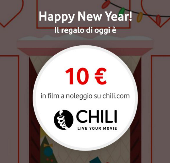 Photo of Ultimo Vodafone Happy New Year: 10 euro per vedere film su Chili con coupon HAPPYGENNAIO19