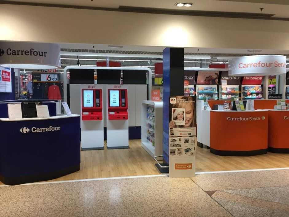 Iliad corner Carrefour SIMBOX