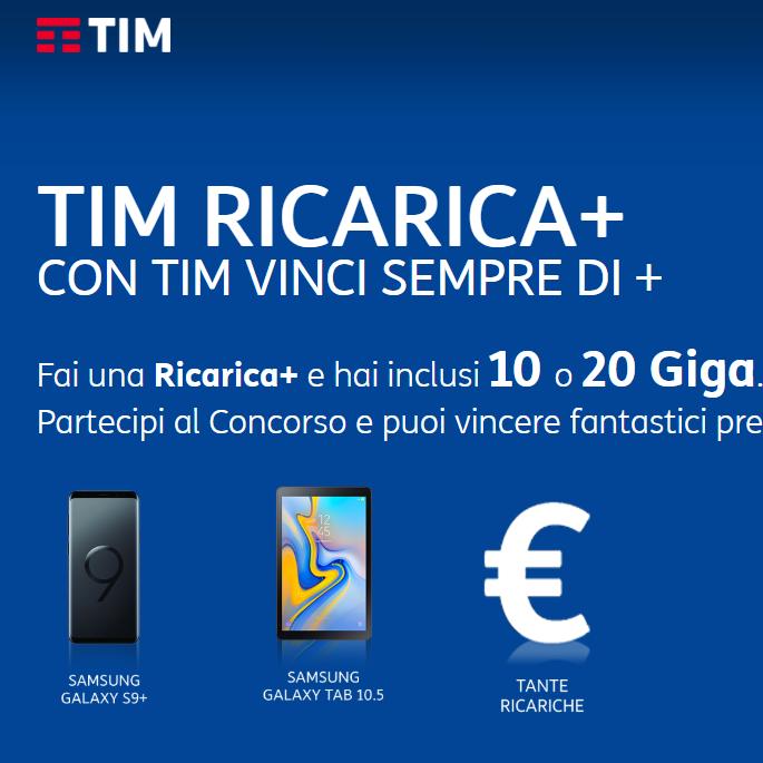 Photo of TIM Ricarica+ e Vinci 2019: 10 o 20 Giga subito in regalo e 10.000 premi in palio ogni mese