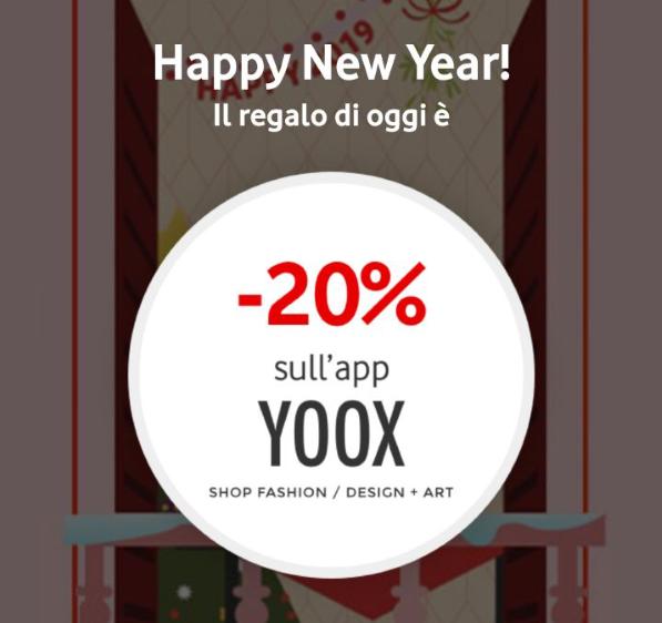Photo of Vodafone Happy New Year: in regalo 20% di sconto su acquisti da app YOOX
