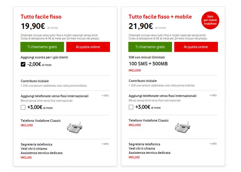 Vodafone riduce il vincolo dell\'offerta solo telefono Tutto Facile ...
