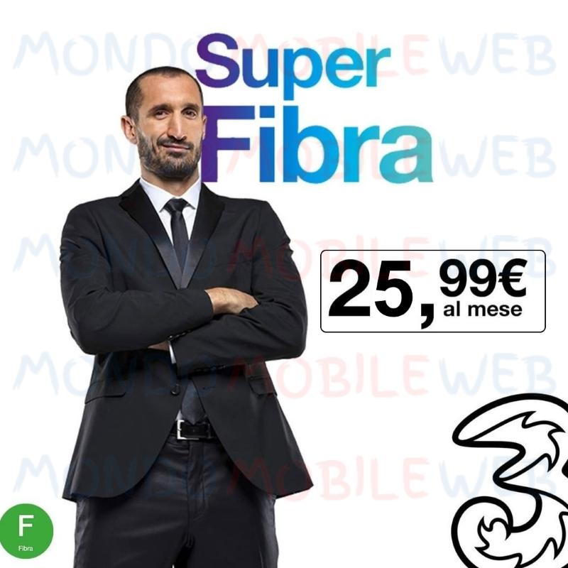Photo of Tre rete fissa: dal 1° Aprile 2019 il costo mensile Super Fibra passa a 25,99 euro