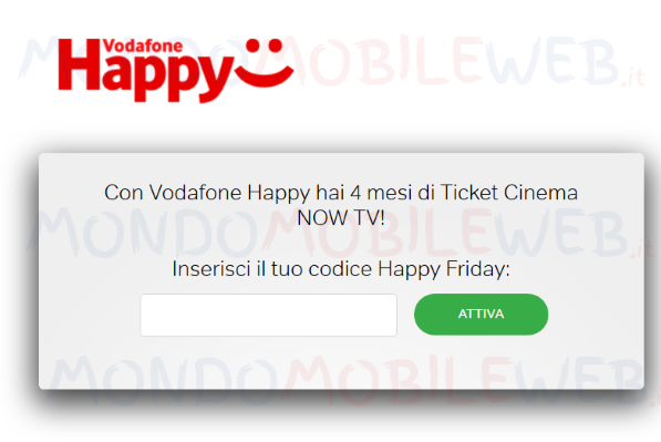 Vodafone in regalo oggi 4 mesi ticket cinema now tv con 9 for Regalo mobile tv
