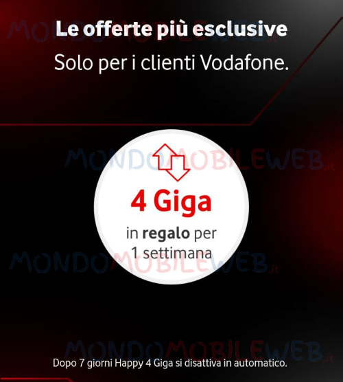 Vodafone Happy Friday Happy Black Giga Gratis
