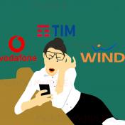 TIM Vodafone Wind Tre multa ricarica