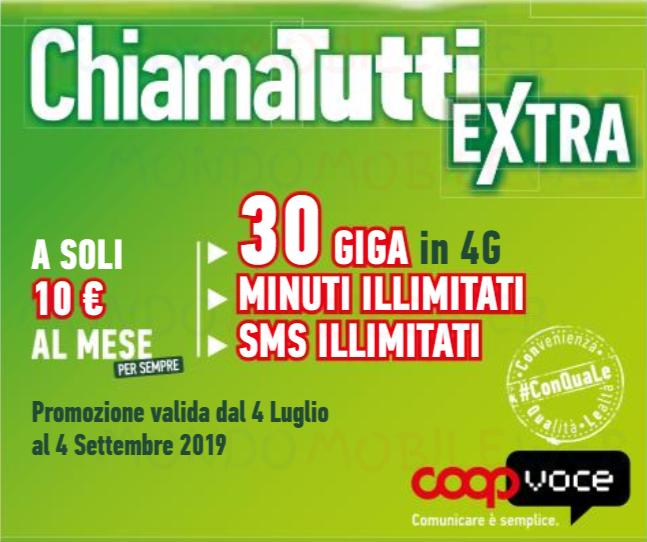 Passa a coopvoce 3 mesi gratis di chiamatutti extra con l for Offerte mobile