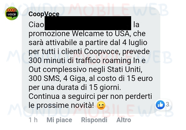 CoopVoce Welcome to USA
