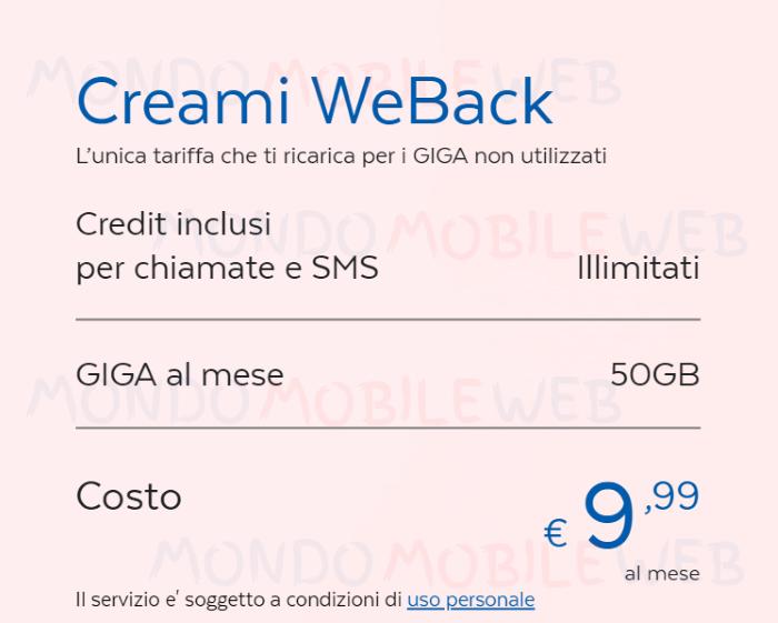 PosteMobile Creami WeBack