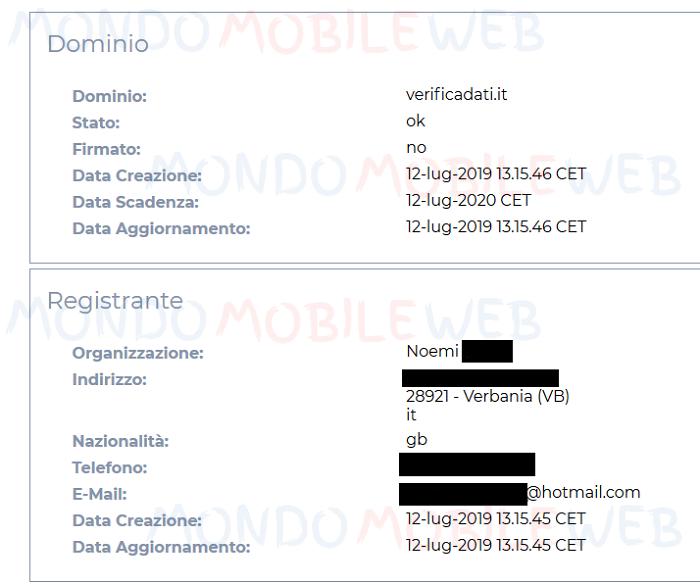 Verifica i tuoi dati Vodafone