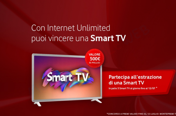 Photo of Vodafone Internet Unlimited: 3 Smart TV in palio ogni giorno se si acquista con Vodafone Ready