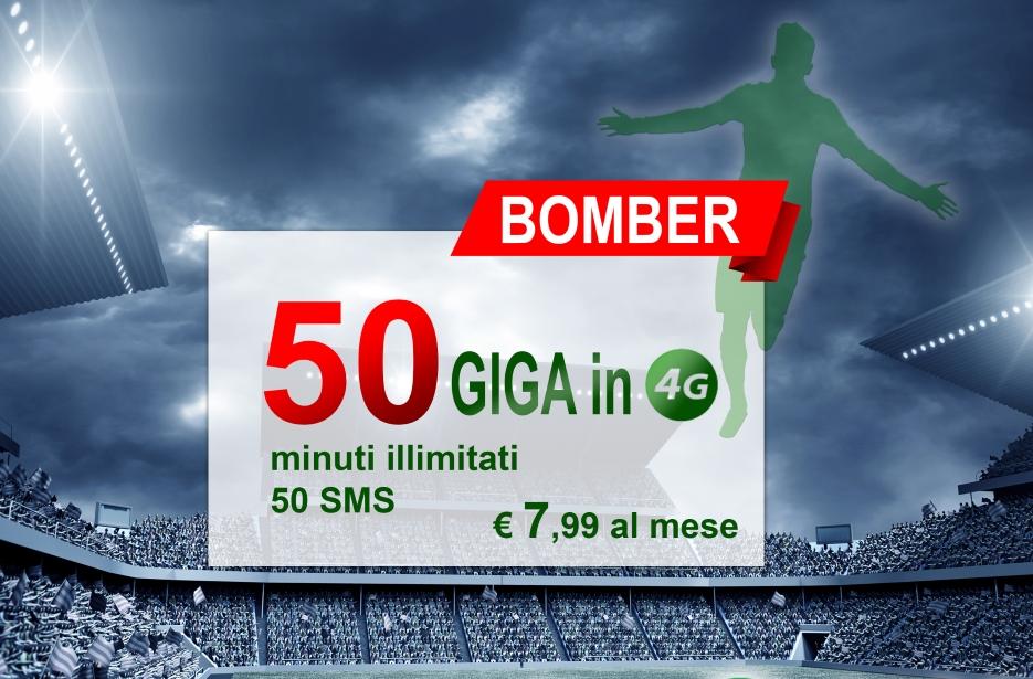 Photo of Rabona Bomber: minuti illimitati, 50 SMS e 50 Giga su rete Vodafone a 7,99 euro al mese