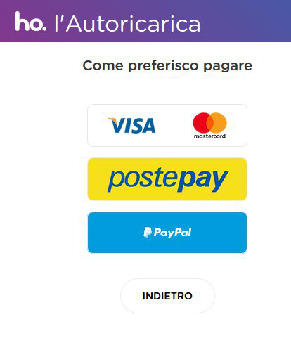 ho. autoricarica paypal