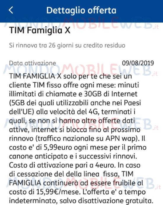 Tim Famiglia X