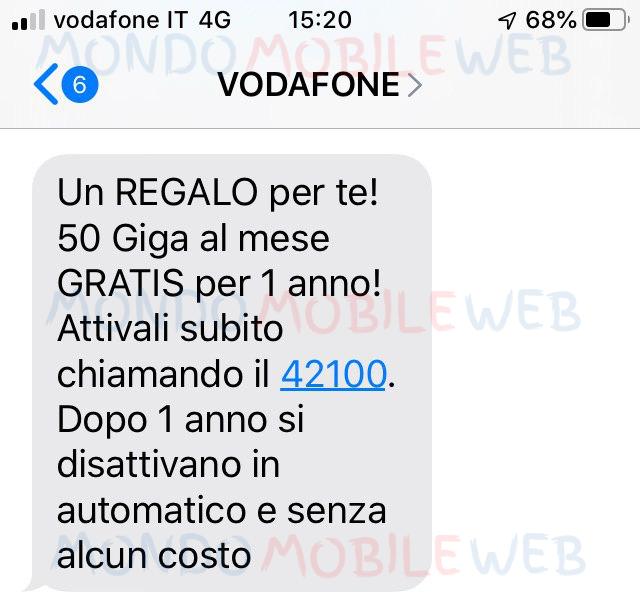 Vodafone regala 50 Giga al mese per 1 anno ad alcuni suoi ...