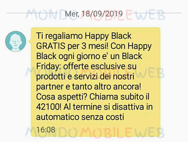 Vodafone Happy Black 3 mesi gratis