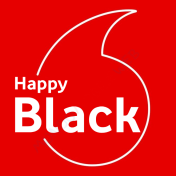 Vodafone Happy Black logo