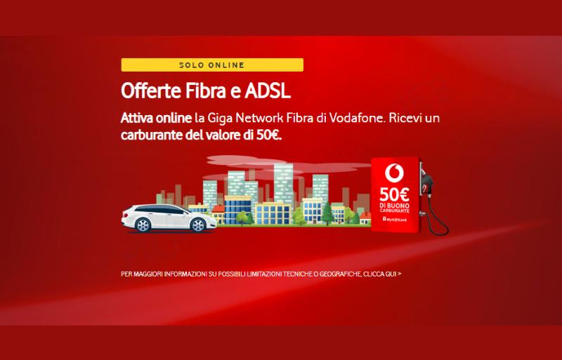 Photo of Vodafone Internet Unlimited: online 50 euro di Buono Carburante con attivazione in FTTC o FTTH