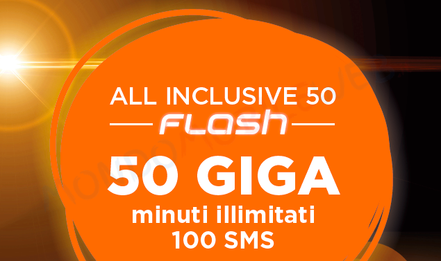 Photo of Wind All Inclusive Special 50+ e 50 Flash: minuti illimitati, 100 sms, 50 Giga a 6,99 euro al mese