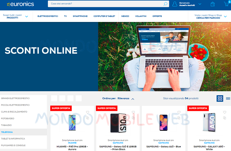 Euronics promo online
