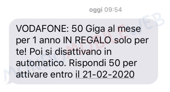 Vodafone 50 Giga Free