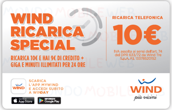 Wind Ricarica Special 10